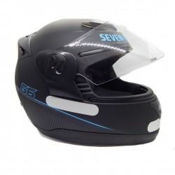 CASCO CERTIFICADO DOT NEGRO MATE